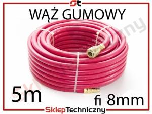 Gumowy Wąż Pneumatyczny do kompresora 5m 8mm