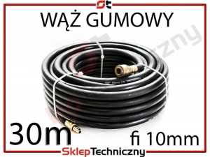 Gumowy Wąż Pneumatyczny do kompresora 30m 10mm