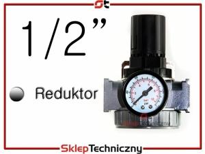 Reduktor powietrza z manometrem 1/2 cala do kompresora AR804