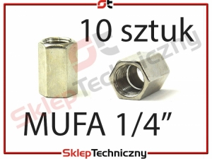 10 sztuk MuFa 1/4 cala przedłużka pneumatyczna J1243