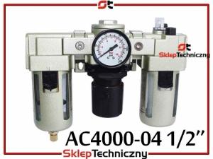 Filtr Odwadniacz Reduktor Naolejacz Zespół Pneumatyczny 1/2 AC4000-04