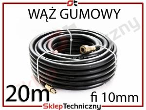 Gumowy Wąż Pneumatyczny do kompresora 20m 10mm