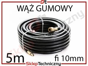 Gumowy Wąż Pneumatyczny do kompresora 5m 10mm