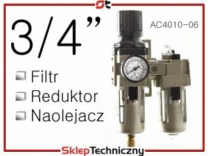 """Filtr Reduktor Naolejacz Zespół przygotowania powietrza 1/4"""" AC4010-06"""