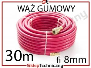 Gumowy Wąż Pneumatyczny do kompresora 30m 8mm