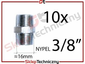 """Nypel pneumatyczny 3/8"""" 10 sztuk J1207"""